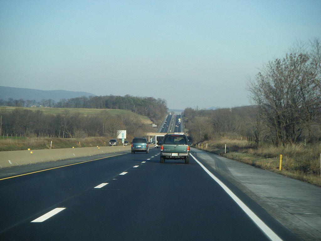 I-78 и US 22 в округе Беркс, Пенсильвания.