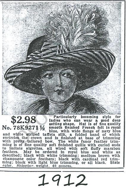 1912 hats