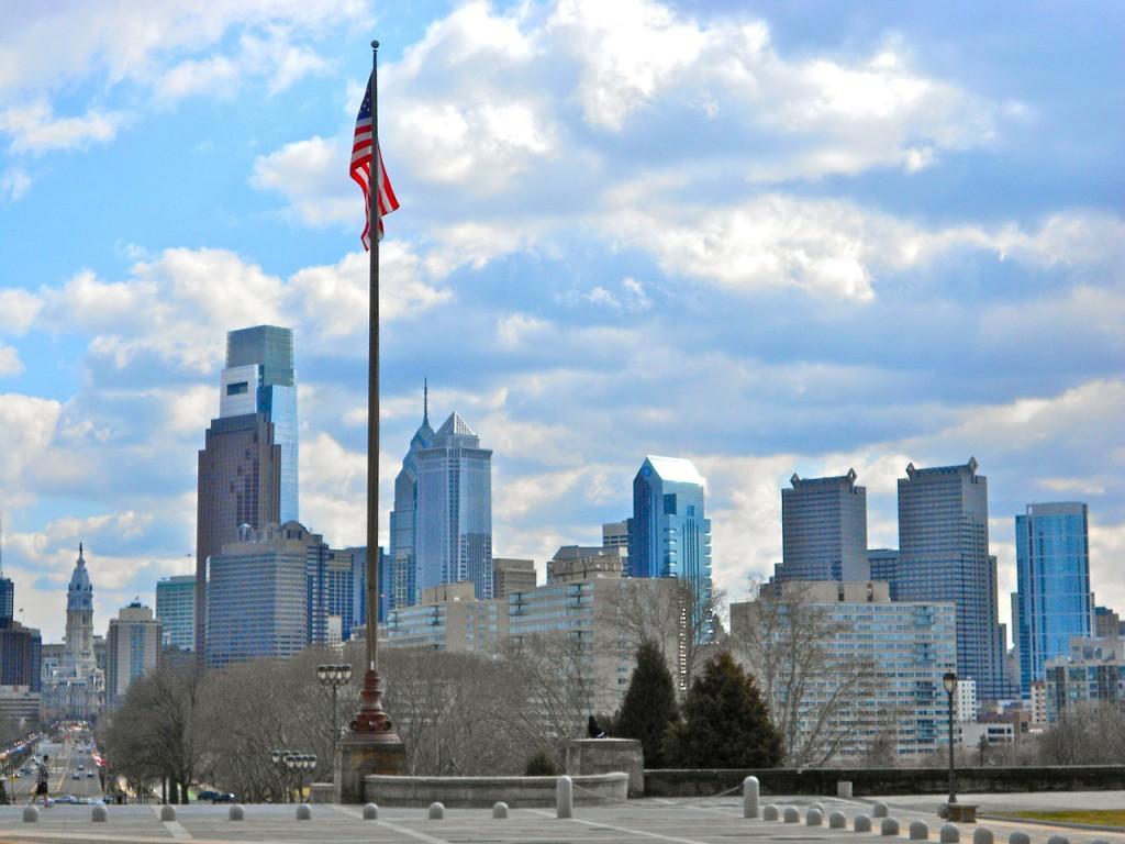 Обои дома, филадельфия, сша, небоскребы, утро. Города foto 19