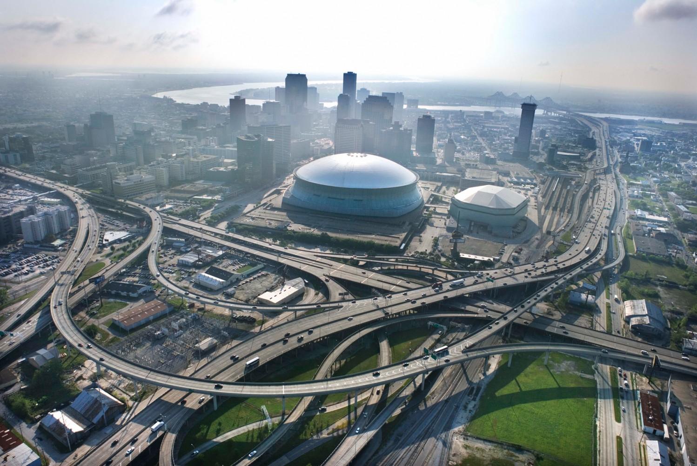 Вид на Новый Орлеан с высоты сегодня