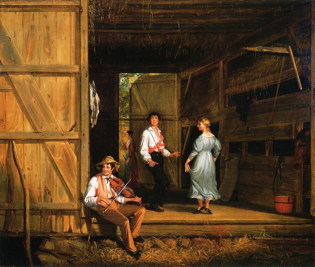 """""""Сельские танцы"""" художника Уильяма Маунта, 1831 год."""