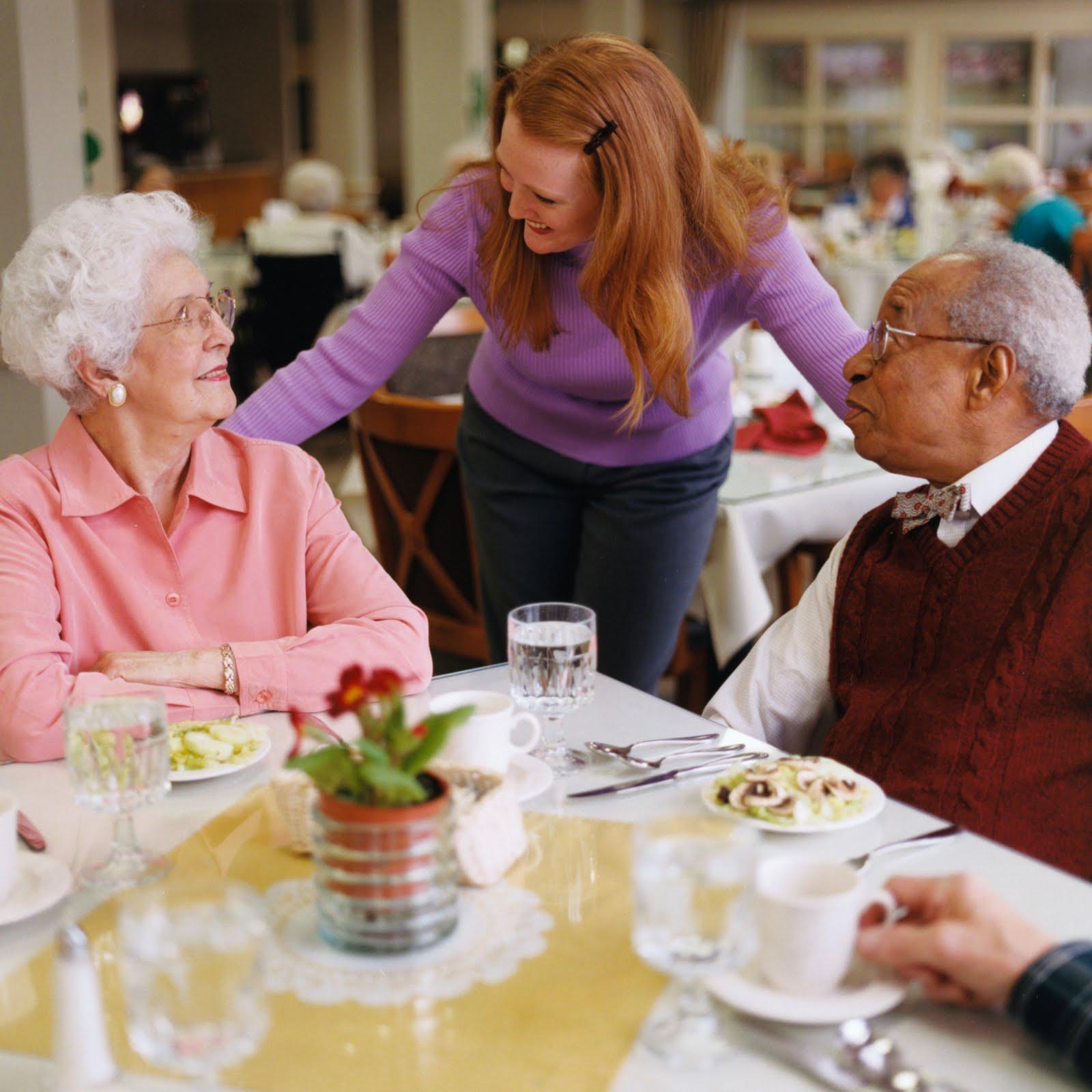 столовая в доме престарелых