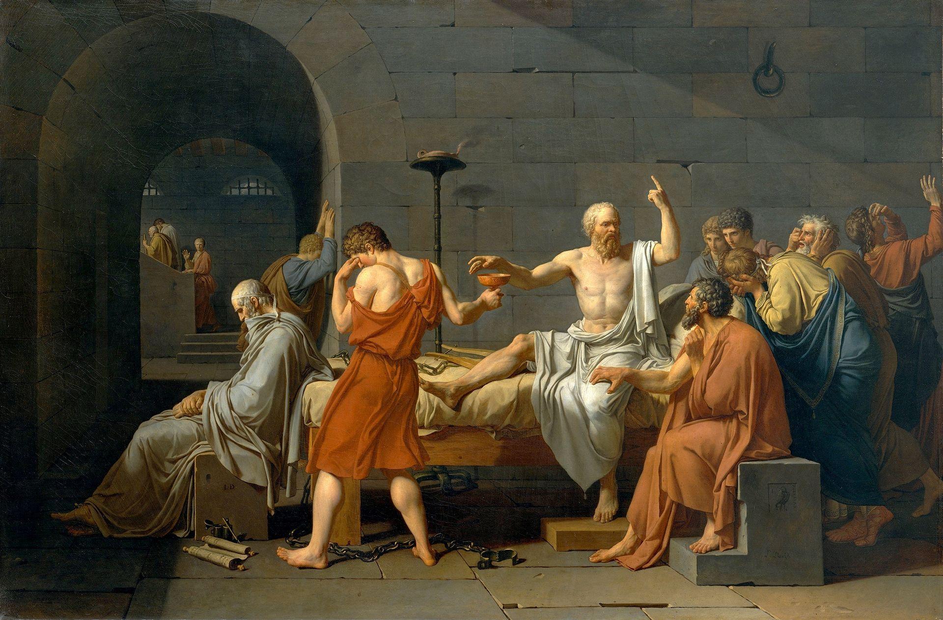 Жак-Луи Давид –Смерть Сократа, 1787