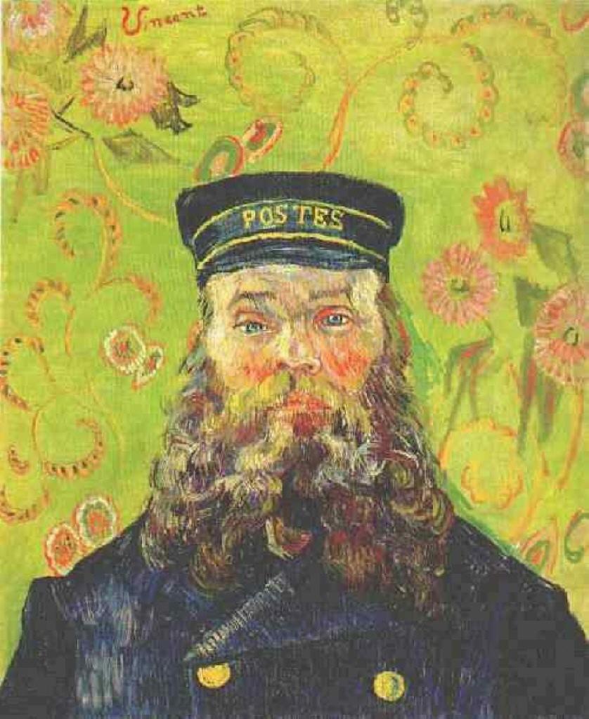 Винсент Ван Гог – Портрет почтальона Жозефа Рулена, 1888