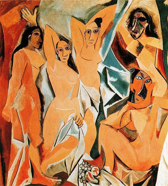 Пабло Пикассо – Авиньонские девицы, 1907