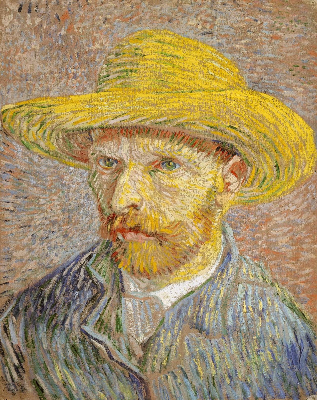 Винсент Ван Гог – Автопортрет в соломенной шляпе