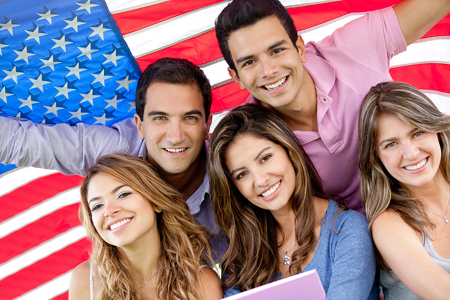 bigstock-Group-of-people-with-the-USA-f-30457568
