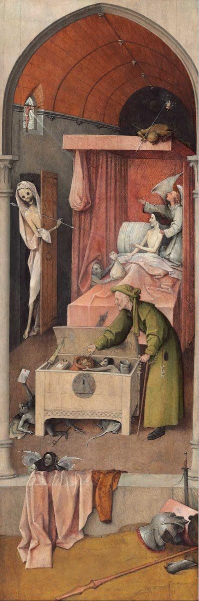 Иероним Босх – Смерть скупца, 1494 - 1516
