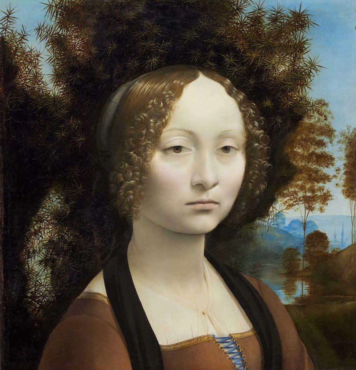 Леонардо да Винчи –Портрет Джиневры де Бенчи, 1474