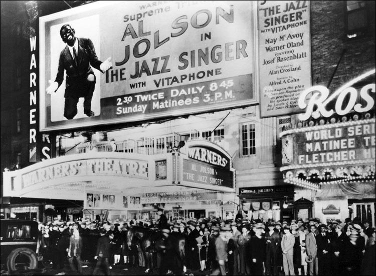 """Премьера первого звукового фильма - """"Певец джаза"""". Нью-Йорк, 1927 год"""