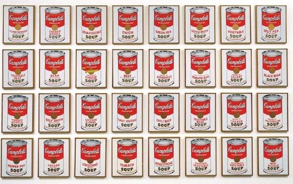 Энди Уорхол – Тридцать две банки супа Кэмпбелл, 1962