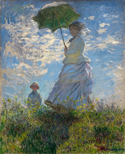 Прогулка. Дама с зонтиком – Клод Моне, 1875