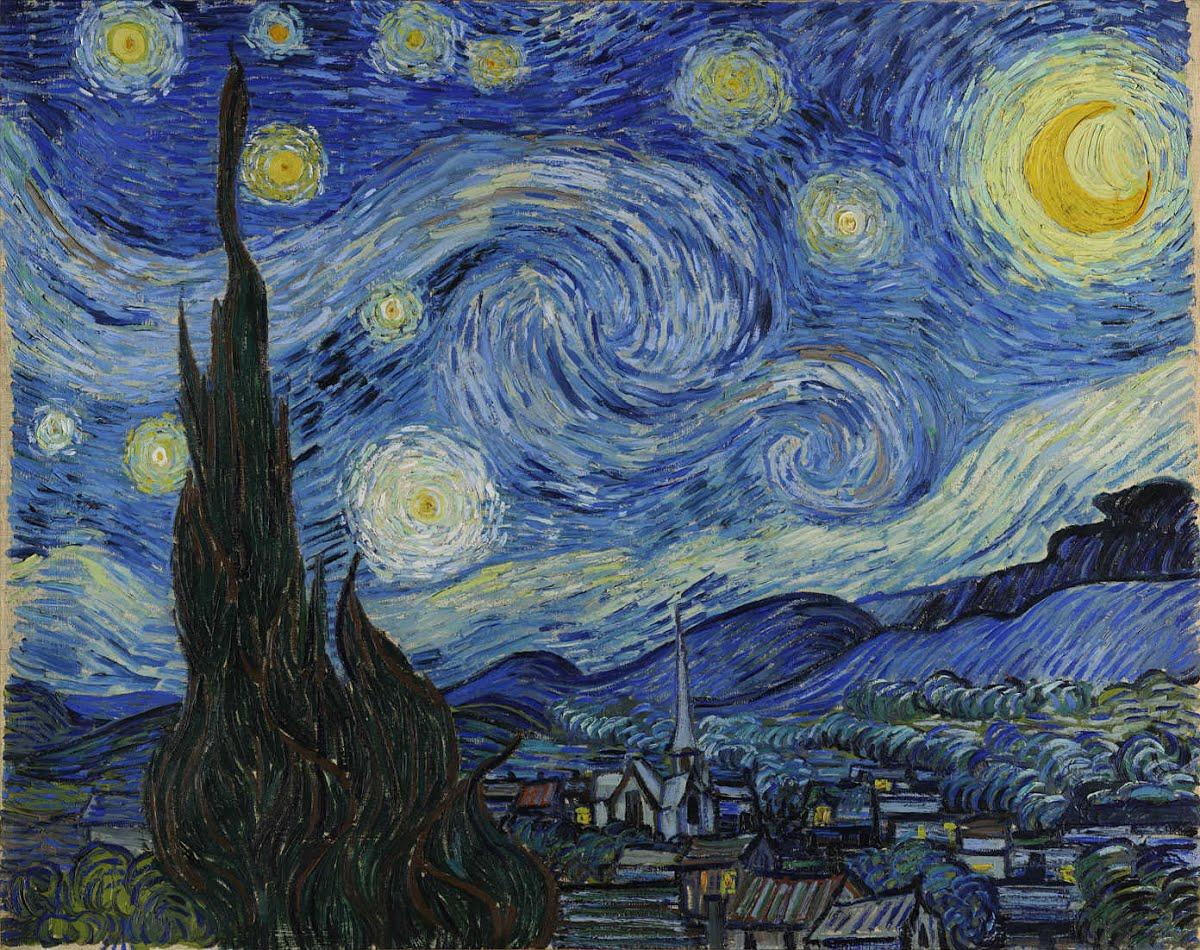 Винсент Ван Гог – Звездная ночь, 1889