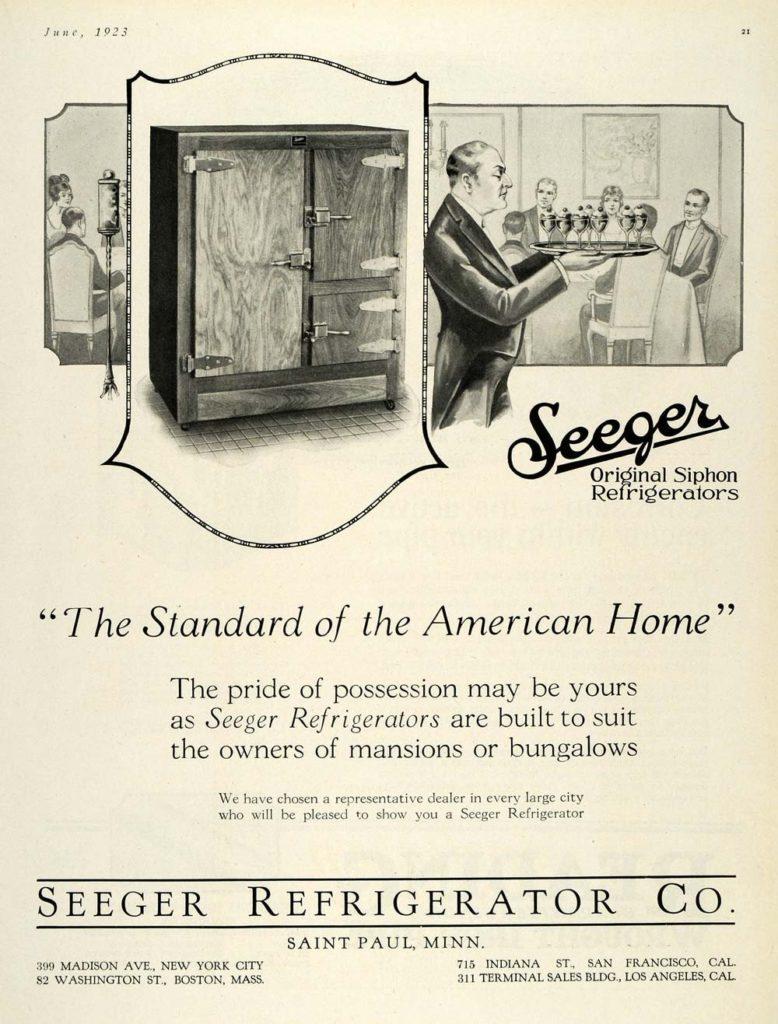 1923 Seeger Refrigerator Company 1923